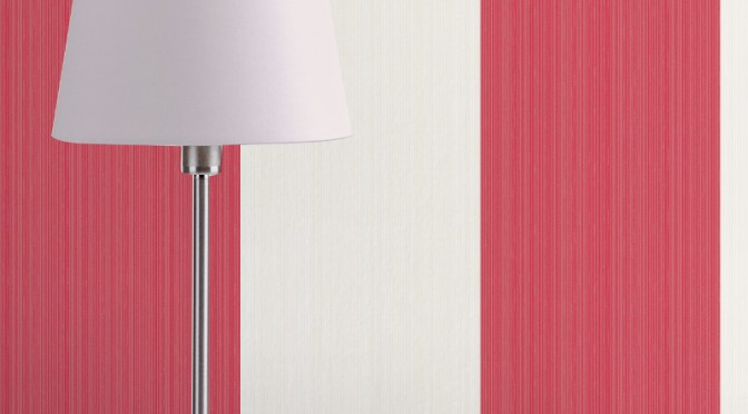 Fine Decor Home Value Wide Stripe – Red and White