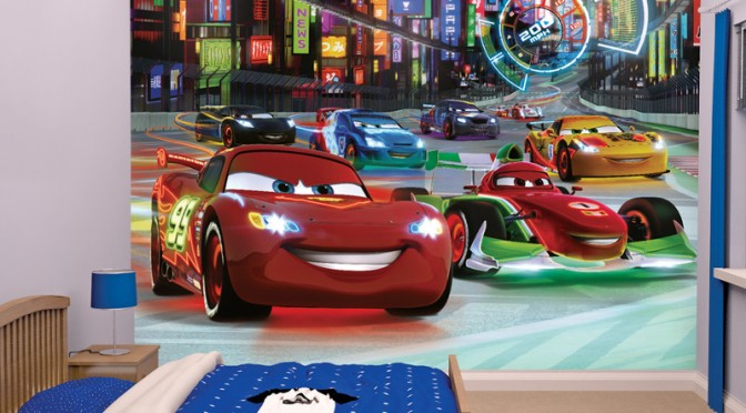 Walltastic archives go decorating for Disney pixar cars mural wallpaper