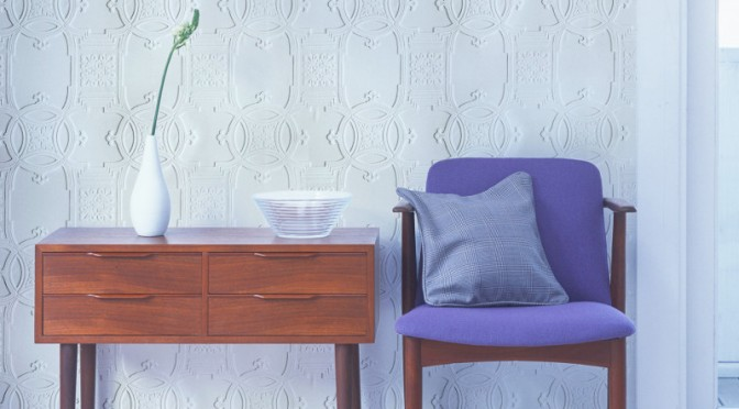 Early Victorian Anaglypta Luxury Textured Wallpaper