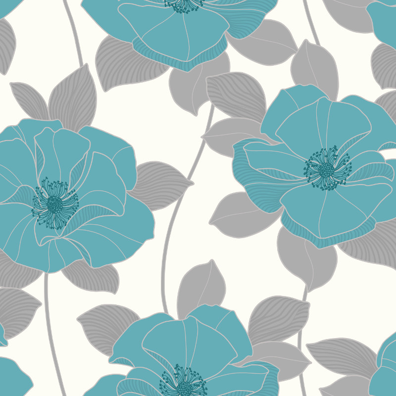 Arthouse dakota motif wallpaper in teal for Teal wallpaper living room