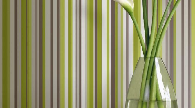 Arthouse Sophia Stripe Wallpaper Green