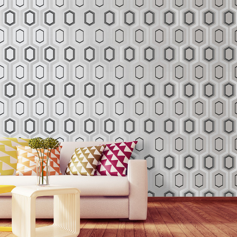Apex Geo Wallpaper Rose Gold: Coloroll Mortimer Glitter Wallpaper