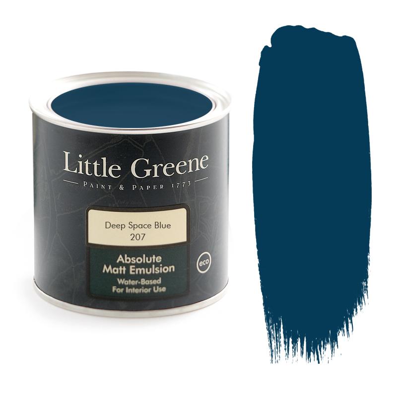 Little Greene Paint Matt Emulsion Deep Space Blue