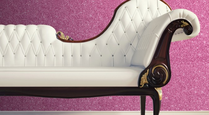Pink Glitter Wallpaper Designed by Muriva