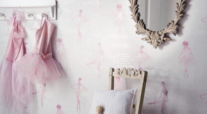 Arthouse Ballet Dancer Glitter Wallpaper – Pink