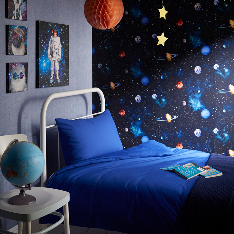 Space Kids Room: Arthouse Cosmos Space Planets Earth Wallpaper