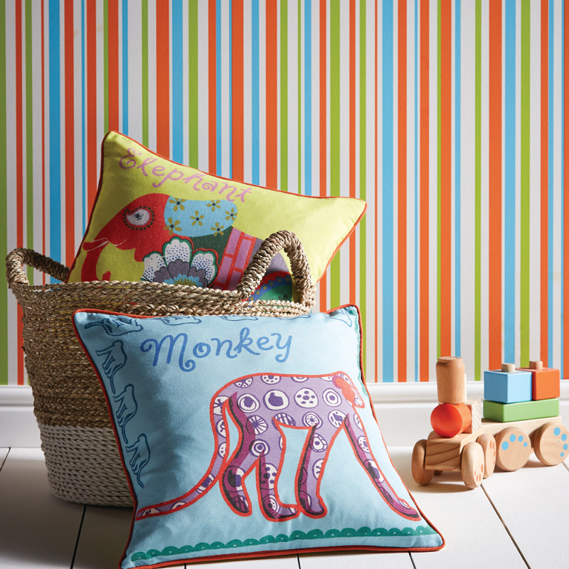 Arthouse Earn Stripes Wallpaper In Multi Coloured