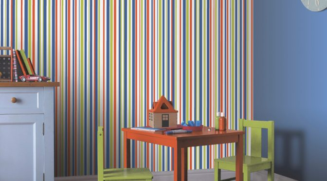 Earn Your Stripes Wallpaper with Arthouse