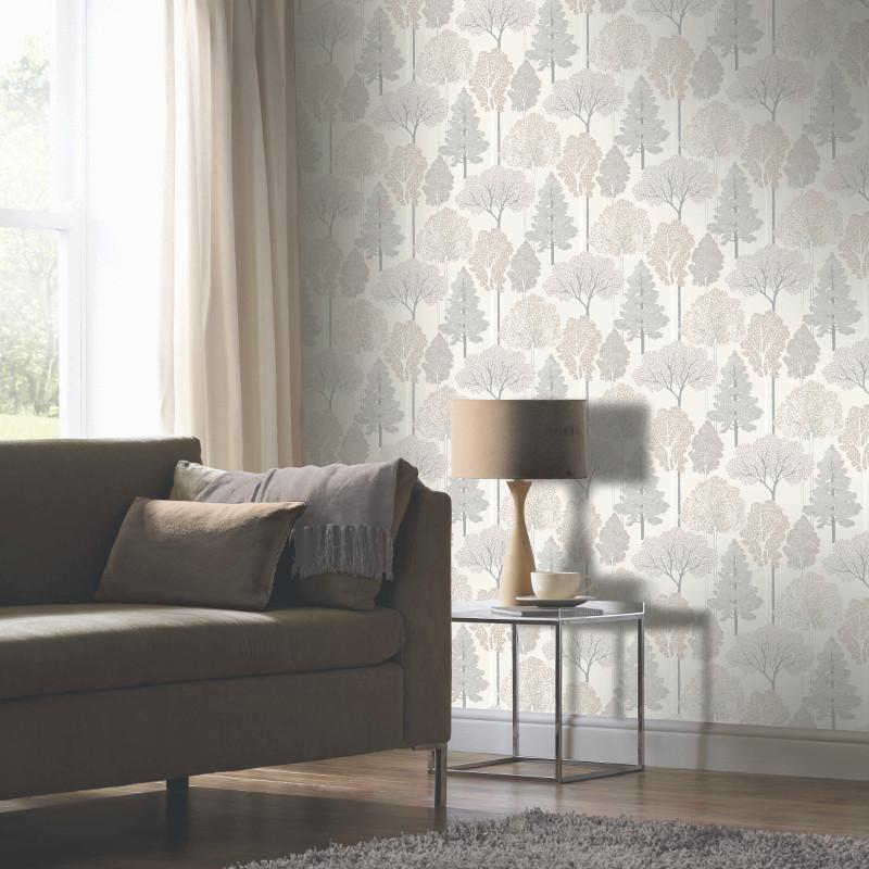 Glitter tree wallpaper with arthouse ellwood - Art house wallpaper uk ...