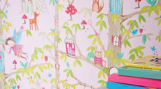 Arthouse Glitter Fairies Wallpaper – Pink
