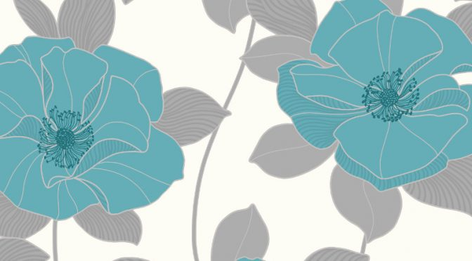 Arthouse Dakota Motif Wallpaper – Teal, Silver & Grey