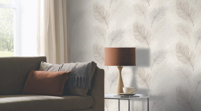 Arthouse Whisper Feather Wallpaper – Taupe