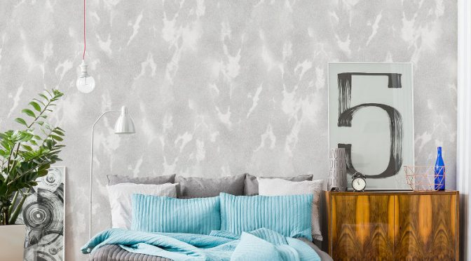 Vymura Cowhide Wallpaper – Longhorn Grey