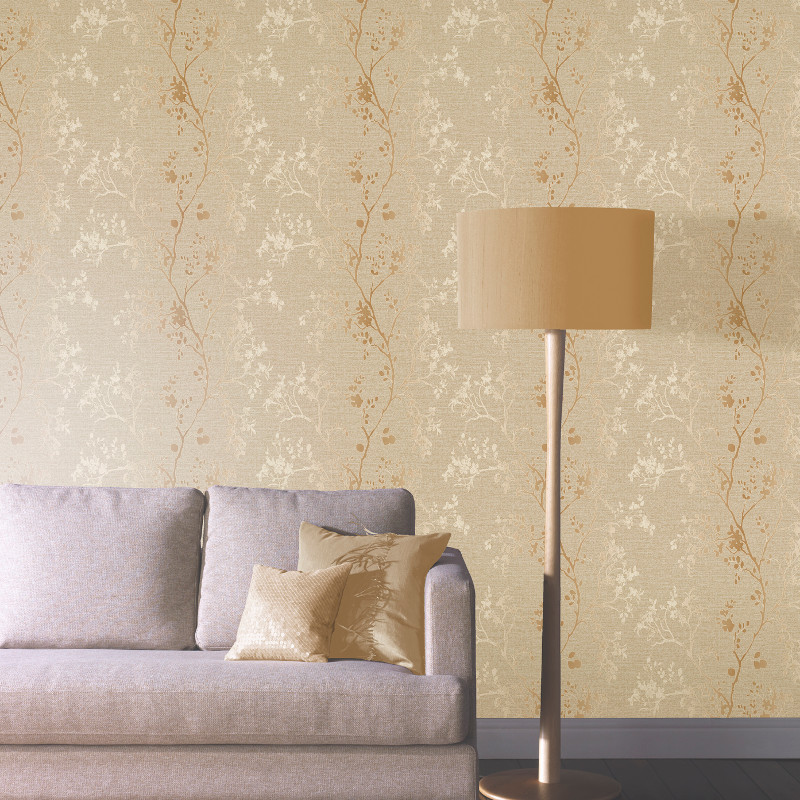 Arthouse Orabella Tree Glitter Wallpaper Gold