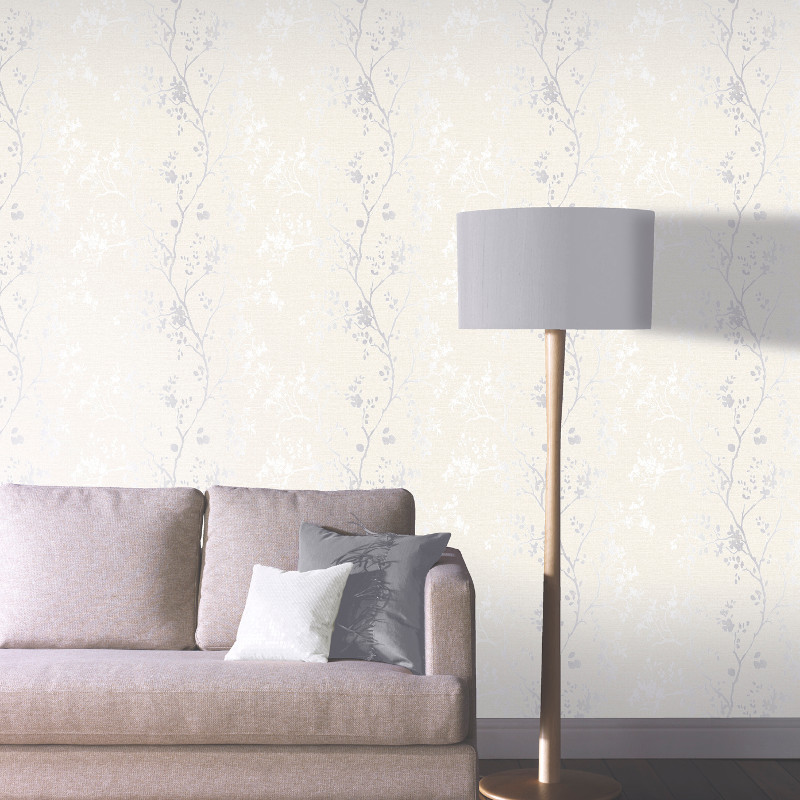Arthouse Orabella Tree Glitter Wallpaper Pearl