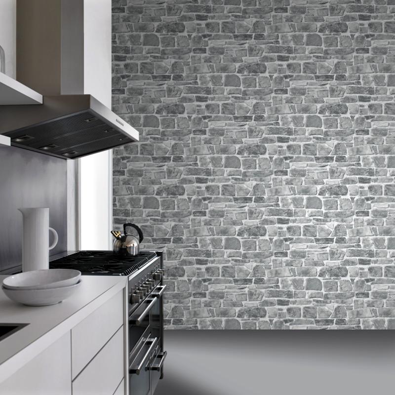 Stone Effect Kitchen Wallpaper: Rasch Stone Effect Wallpaper