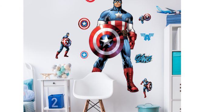 Walltastic Captain America Large Character Sticker