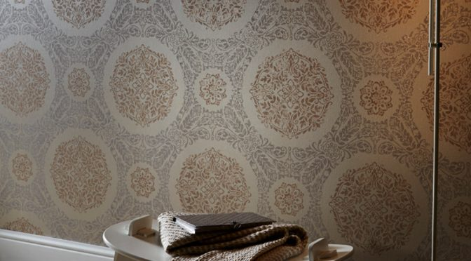 Arthouse Timour Glitter Wallpaper in Rose Gold Glamour