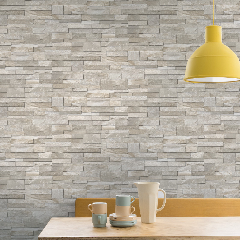 Grandeco stone brick effect wallpaper in sand stone for 3d effect wallpaper uk