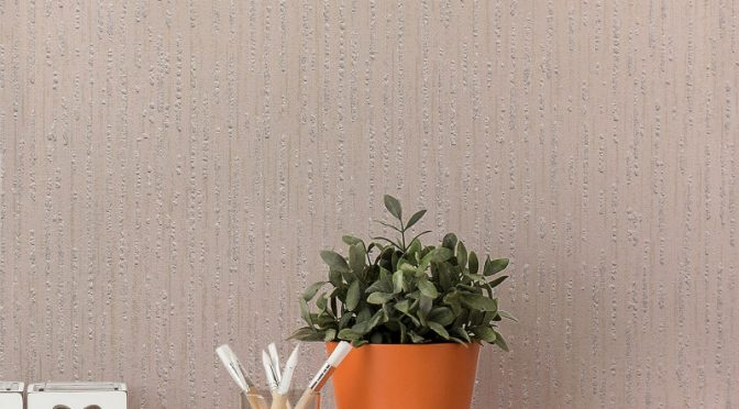 Crown Star Texture Glitter Wallpaper in Taupe – Magical