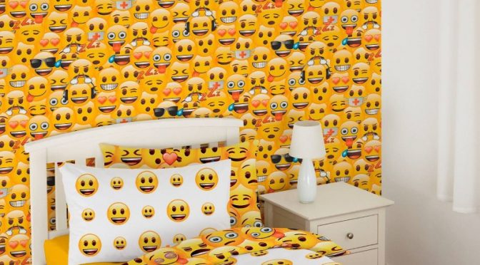 Emoji Wallpaper in Multi by Debona Adding Bursts of Colour