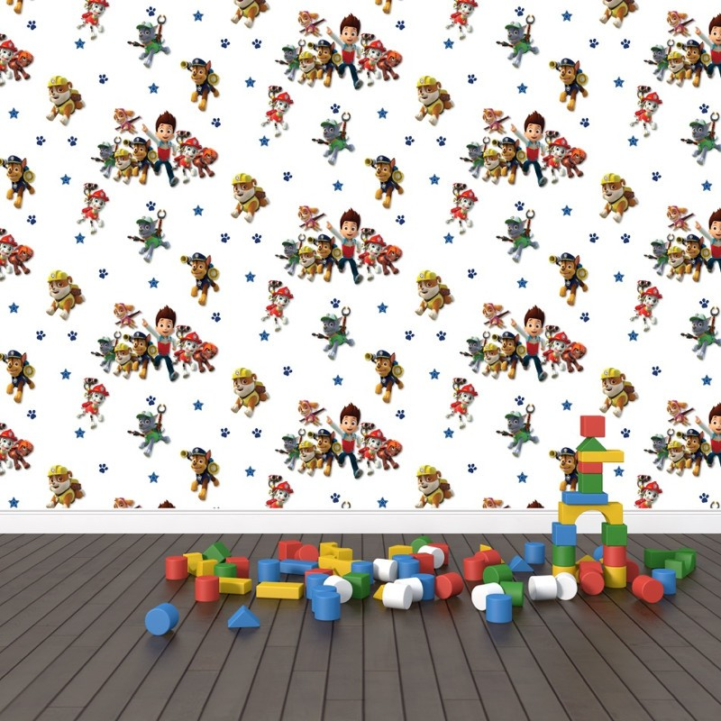 paw patrol multi wallpaper adding a fun touch with debona. Black Bedroom Furniture Sets. Home Design Ideas