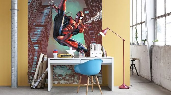 Marvel Spiderman Jump Wall Mural – Komar All Action