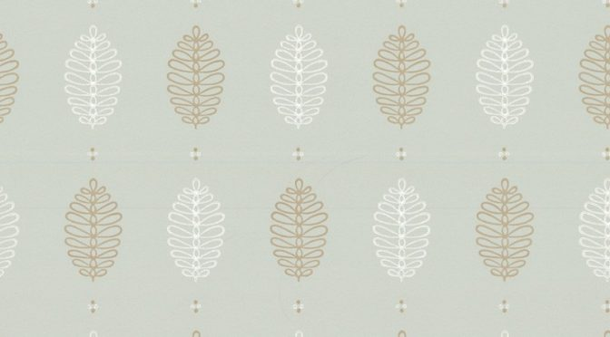Little Greene Cones Wallpaper in Daybreak – Retro Designs