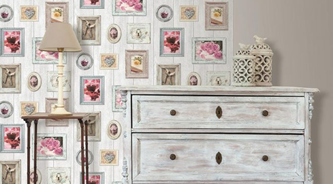 Frames Wallpaper with Muriva Home Sweet Home