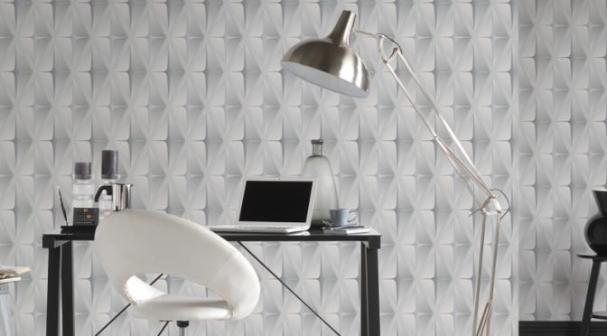 AS Creation Square 3D Effect Grey White Wallpaper