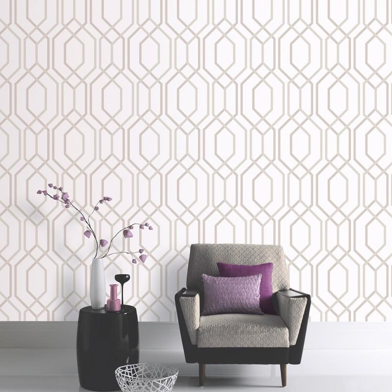 Arthouse artemis geometric mocha glitter wallpaper for Artemis decoration