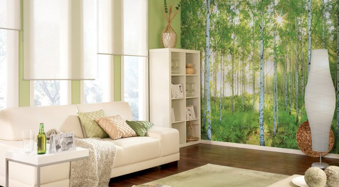 Komar Sunday Scene Wall Mural – Afternoon Strolls