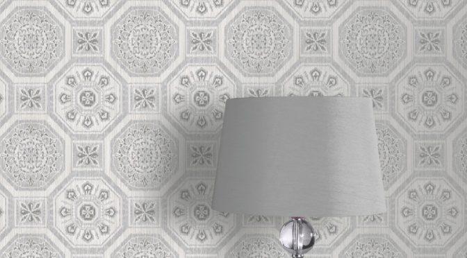 Arthouse Brasillia Geometric Tile Grey Wallpaper – Tropics Collection
