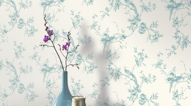 Arthouse Chinoise Teal Wallpaper – Birds of Paradise