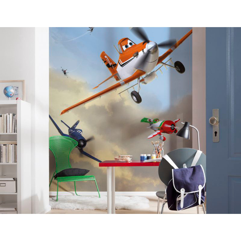 komar disney planes dusty and friends wall mural