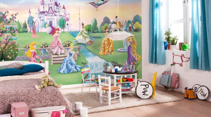 Komar Disney Princess Castle Wall Mural – Girls Bedroom