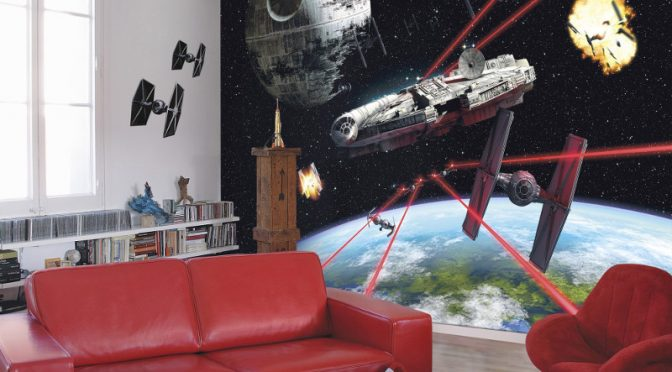 Star Wars Millennium Falcon Wall Mural by Komar
