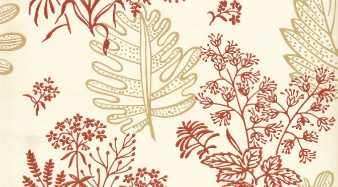 Little Greene Norcombe Wallpaper in Jazz – Modern Designs from 1949
