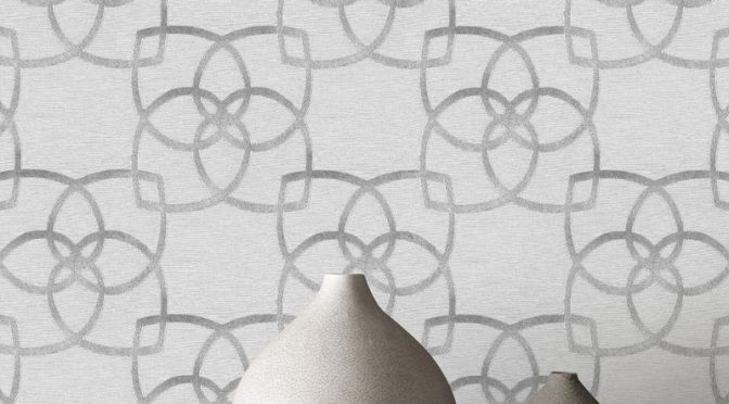 Muriva Marrakesh Geo Silver Grey Glitter Wallpaper – Precious Silks