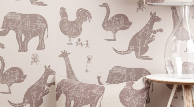 PaperBoy How it Works Wallpaper in Stone – Neutral Wallpaper