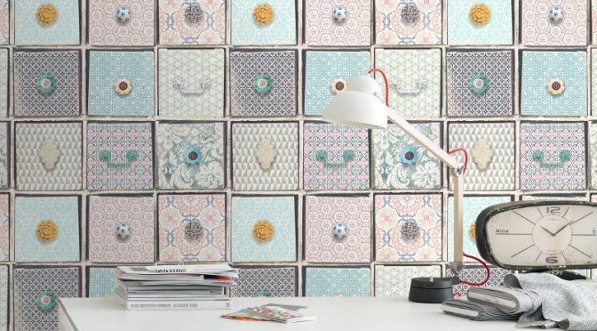 Rasch Drawers Multi Wallpaper – Frames Wallpaper Collection