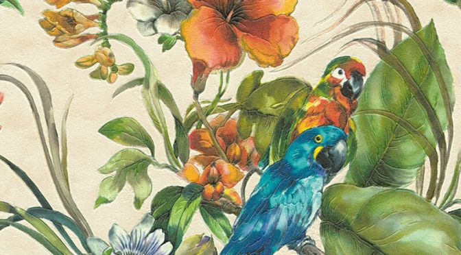 Floral Parrots Cream Wallpaper from AS Creation