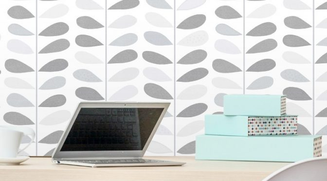 Debona Jasmine Leaf Grey/Silver Glitter Wallpaper