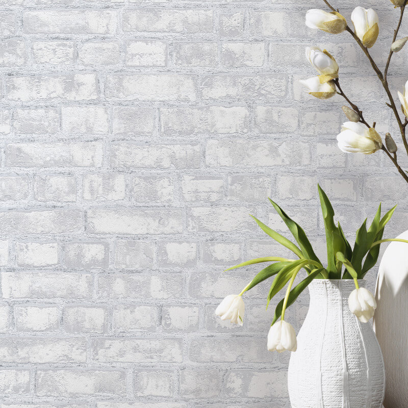 Rustic Brick Grey Wallpaper P Amp S International Easy Wall