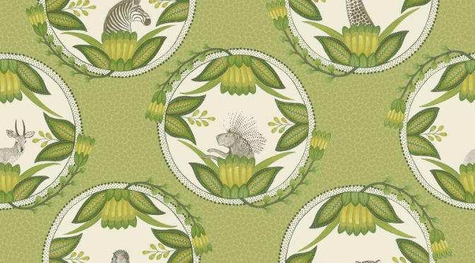 Cole & Son Ardmore Cameos Green Wallpaper
