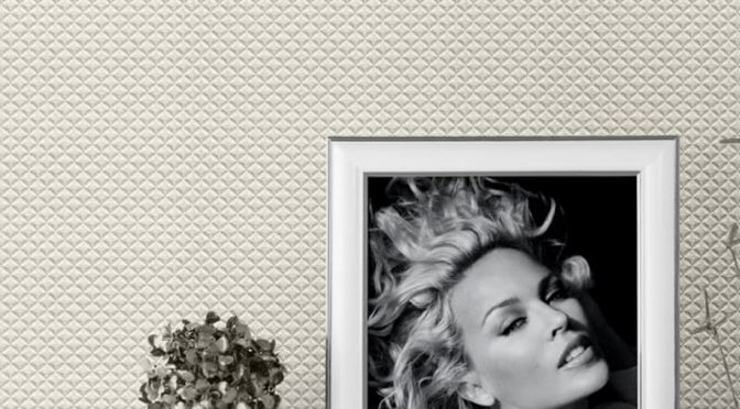 Kylie Minogue Diamond Texture Ivory Wallpaper