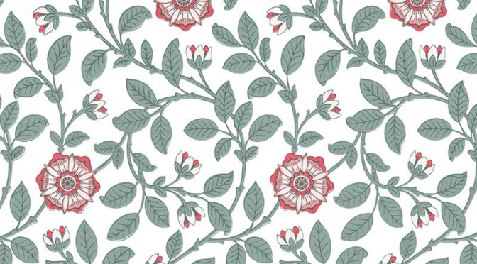 Little Greene Richmond Green Wallpaper in Dorcas