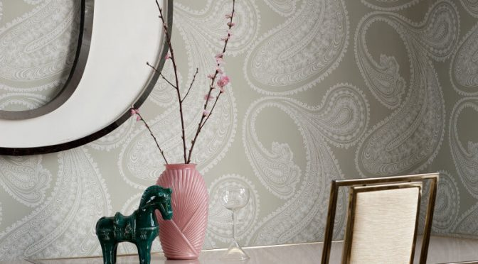 Cole & Son Rajapur Wallpaper – Soft Green