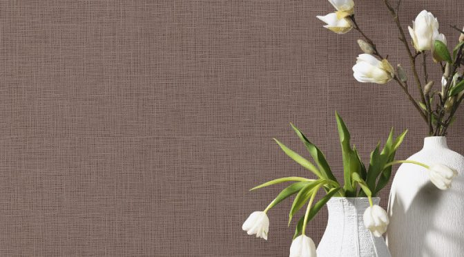 PS International Graphics Plain Brown Wallpaper