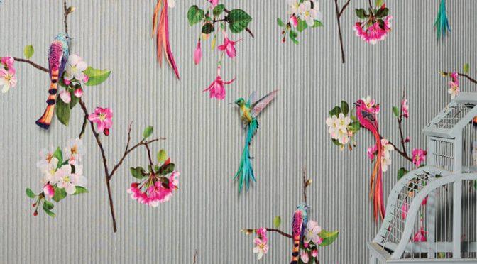 Kotori Birds Silver Wallpaper